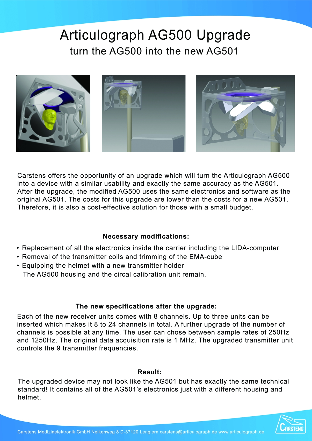 AG500 upgrade